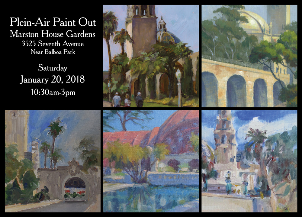 Plein Air Painters Brush Up On Balboa Park Soho Enews