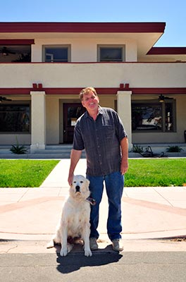 Marty McDaniel and dog