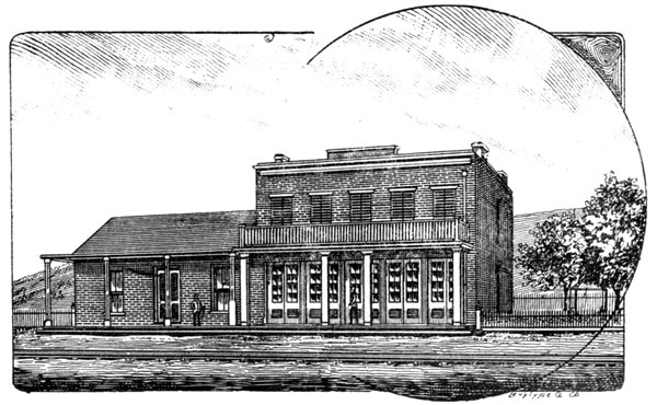 Etching of the Whaley House