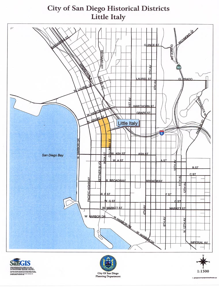 Naval Station San Diego Map.Historic Districts