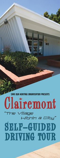 Clairemont tour booklet cover