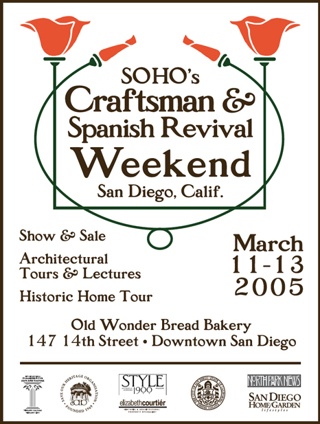 Craftsman & Spanish Revival Weekend booklet cover