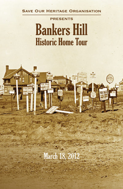 Bankers Hill historic home tour booklet cover